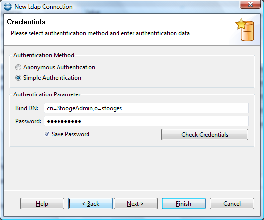 New LDAP connection wizard 2