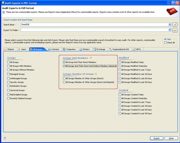 Active Directory Admin & Reporting Tool